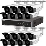 8MP 120dB WDR Hikvision 32 Channel IP CCTV System with 16 x 80m EXIR 4K Bullet Cameras (EasyIP 3.0)