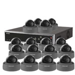 8MP 120dB WDR Hikvision 32 Channel IP CCTV System with 16 x 30m 4K Vandal Dome Cameras (EasyIP 3.0/ Grey)