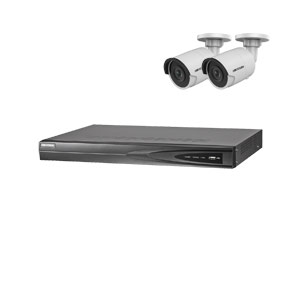 8MP 120dB WDR Hikvision 4 Channel IP CCTV System with 2 x 30m 4K Mini Bullet Cameras (EasyIP 3.0)