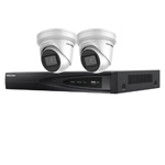 Hikvision 4Ch IP CCTV Kit with 2x Dark Fighter 6MP 120dB WDR IP Turret Camera