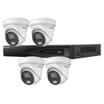 Hikvision 4Ch IP CCTV Kit with 4x ColorVu 4MP Full Time Colour Turret Audio Camera with Built in Mic