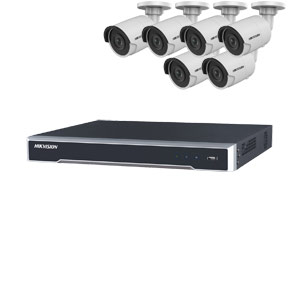 8MP 120dB WDR Hikvision 8 Channel IP CCTV System with 6 x 30m 4K Mini Bullet Cameras (EasyIP 3.0)