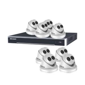 5MP 120dB WDR Hikvision 16 Channel IP CCTV System with 8 x 30m EXIR 5MP Turret Cameras (EasyIP 3.0)