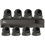 Kestrel 8MP 8ch UHD 4K IP CCTV Kit with 8x Grey Eyeball Camera