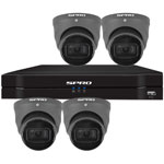 SPRO 6ch 8MP 4k HD CVI CCTV Kit with 4x Smart IR Grey Star Light Dome Camera with Built In Mic