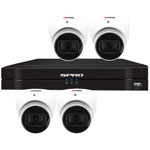 SPRO 6ch 8MP 4k HD CVI CCTV Kit with 4x Smart IR White Star Light Dome Camera with Built In Mic