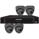 SPRO 6ch 5MP Lite HD CVI CCTV Kit with 4x 4in1 Smart IR Grey Dome Camera with Built In Mic