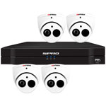 SPRO 6ch 5MP Lite HD CVI CCTV Kit with 4x 4in1 Smart IR White Dome Camera with Built In Mic