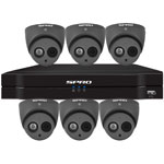 SPRO 12ch 5MP Lite HD CVI CCTV Kit with 6x 4in1 Smart IR Grey Dome Camera with Built In Mic