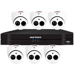 SPRO 12ch 5MP Lite HD CVI CCTV Kit with 6x 4in1 Smart IR White Dome Camera with Built In Mic
