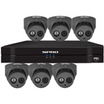 SPRO 8ch 6MP IP CCTV Kit with 6x Fixed Lens Turret Grey Camera with Microphone
