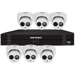 SPRO 8ch 6MP IP CCTV Kit with 6x Fixed Lens Turret White Camera with Microphone