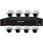 SPRO 8ch 6MP IP CCTV Kit with 8x Fixed Lens POE Vandal Resistant White Dome Camera
