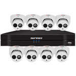 SPRO 8ch 6MP IP CCTV Kit with 8x Fixed Lens Turret White Camera with Microphone